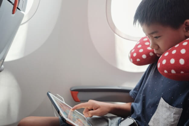 Boy in a plane